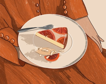 A Slice of Cake - Illustration - Art - Art Print - Digital - Painting - Artwork - Wall Decor - Wall Art - Small Print - Large Print