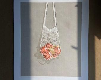 Tangerines  - Illustration - Art - Art Print - Digital - Painting - Artwork - Wall Decor - Wall Art - Small Print - Large Print - Home Decor
