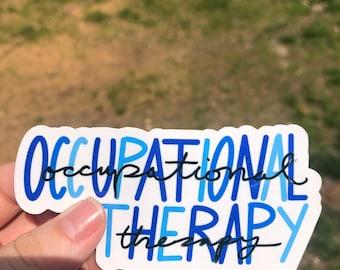 4 x 1.6 Occupational Therapy sticker