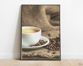 Cappucino Coffee Printable Poster For Home Kitchen Wall Decor Digital Download