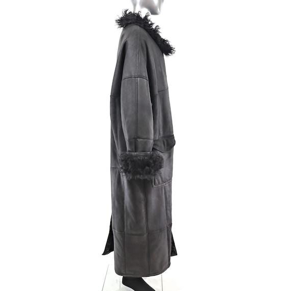Men's Full Length Shearling Coat with Lamb Lining… - image 5