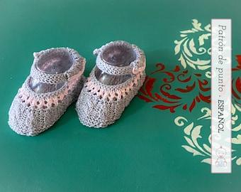 PATRÓN PATUCOS Bebé Modelo Abril nº 133 l 0-3 meses   Baby Booties Knitting Pattern   Instrucciones detalladas   Descarga pdf instantánea