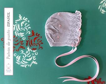 GORRITO Bebé Abril PATRÓN nº 133 l 0-3 meses   Baby Bonnet Knitting Pattern   Instrucciones muy detalladas   Descarga pdf instantánea