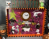The nightmare before Christmas hand painted wooden tray