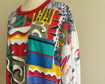 Handmade Vintage Fabric Sweater- XL