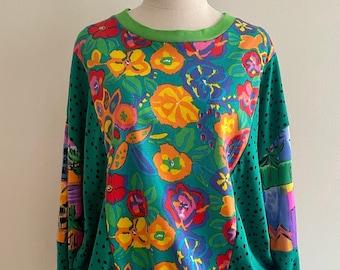 Handmade Vintage Cotton Knit Fabric Sweater