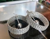 Crocheted Argentium Silve...