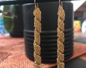 Spiral Gold Crocheted Dan...