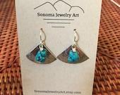 Silver Fan Earrings with ...