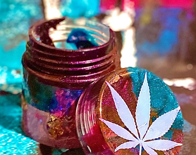 Decorative Resin Stash Jar