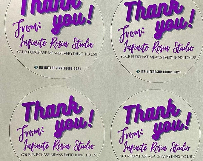 Custom Thank you stickers for small business