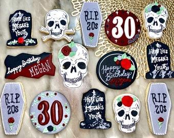30th Birthday Cookies: RIP 20s