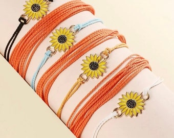 Friendship bracelets sunflower affordable jewelry gift