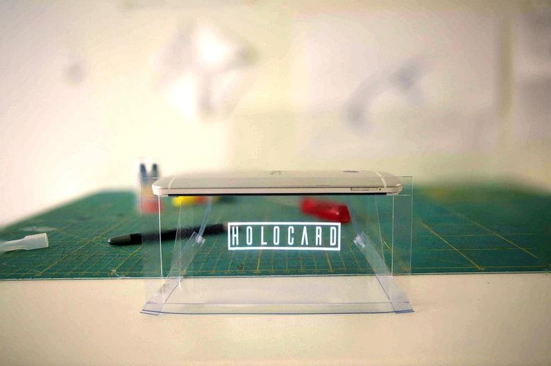Holocard  The foldable hologram display for smartphones image 0