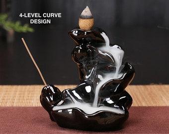 Ceramic Waterfall Backflow Incense Burners Holder Diffuser Home Decor