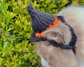 witch/wizard crochet cat hat