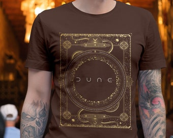 Dune 2021 Golden Glitter T-Shirt, Fear is the Mind Killer Hoodie, Sci-Fi T-Shirt, Frank Herbert, Dune # 6, Seek Freedom Quote sweatshirt