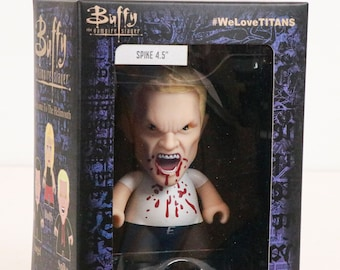 """Titans - Horror Block Exclusive - Buffy the Vampire Slayer - SPIKE Bloody Variant - 4.5"""" Vinyl Action Figure Toy"""