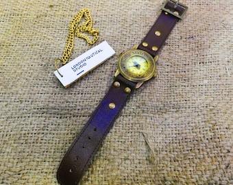Antique Brass Wrist Compass