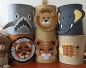 Cute Cartoon Zoo Animal Toy Storage Box, Collapisable Felt Box, Felt Storage Basket, Laundry Hamper, Toy Organizer