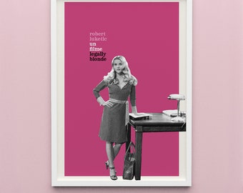 1 Legally Blonde (French New Wave) Poster Digital Download
