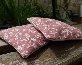 Vintage Laura Ashley Wild Clematis Print Organic Lavender Sachets - Plum