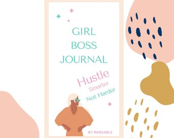 Girl Boss Journal   Workbook   eBook   Boss Babe Entrepreneur - Hustle Smart - Not Hard   Self Growth Guide   Self Care   Self Love Mindset