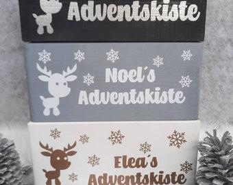 Advent box Christmas personalized, Advent calendar to fill, Christmas box