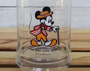 For Good Little Boys Apothecary Jar, For Good Little Boys Mickey Mouse Jar, Vintage Disney Decor, Vintage Disney Cookie Jar, Vintage Mickey