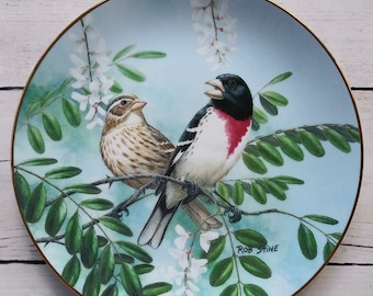 Alluring Daylight Bird Plate from A Treasury of Songbirds Series by Rob Stine