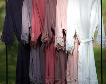 Cotton  Bridal Robe / Bridesmaid Robes / Wedding Gift / Bride Robe / Bridesmaid Gifts / Bridal Party Robes / Set of Bridesmaid Robes