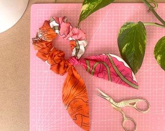 Poppies Cotton Scrunchie