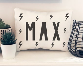 Personalised Cushion for Children's Room, Mini Cushion, Scandi Style Cushion for Child's Room, Scandi Style Kids Room Accessories