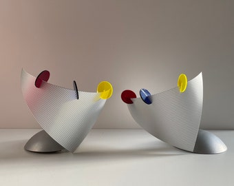 Pair of Vintage Wall Sconces 'Kameo' by Oligo, Wall Light, 1980s Memphis Design from Germany, Postmodern Lamp