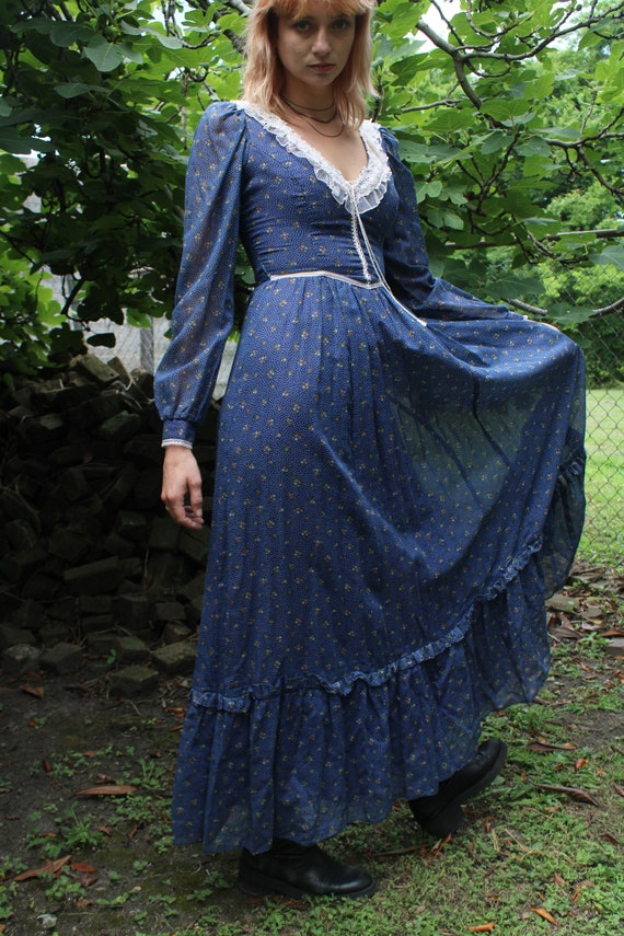70's Vintage Gunne Sax prairie dress  by Jessica … - image 3