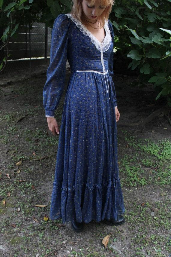 70's Vintage Gunne Sax prairie dress  by Jessica … - image 2
