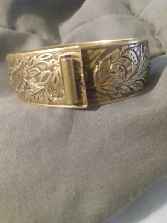 Art nouveau cuff bracelet - image 2