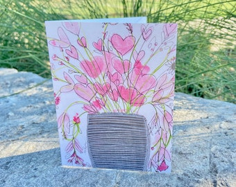 Single Fanciful Note Card A4