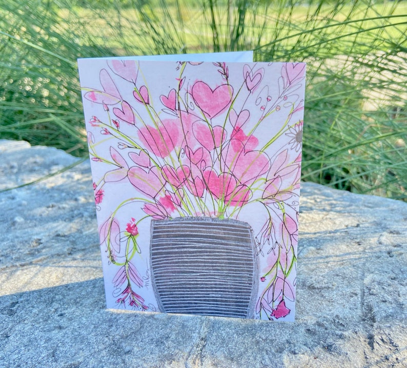 Single Fanciful Note Card A4 image 1