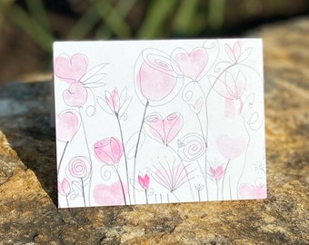 Single Fanciful Note Card A2
