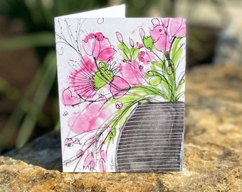 Single Fanciful Note Card A5