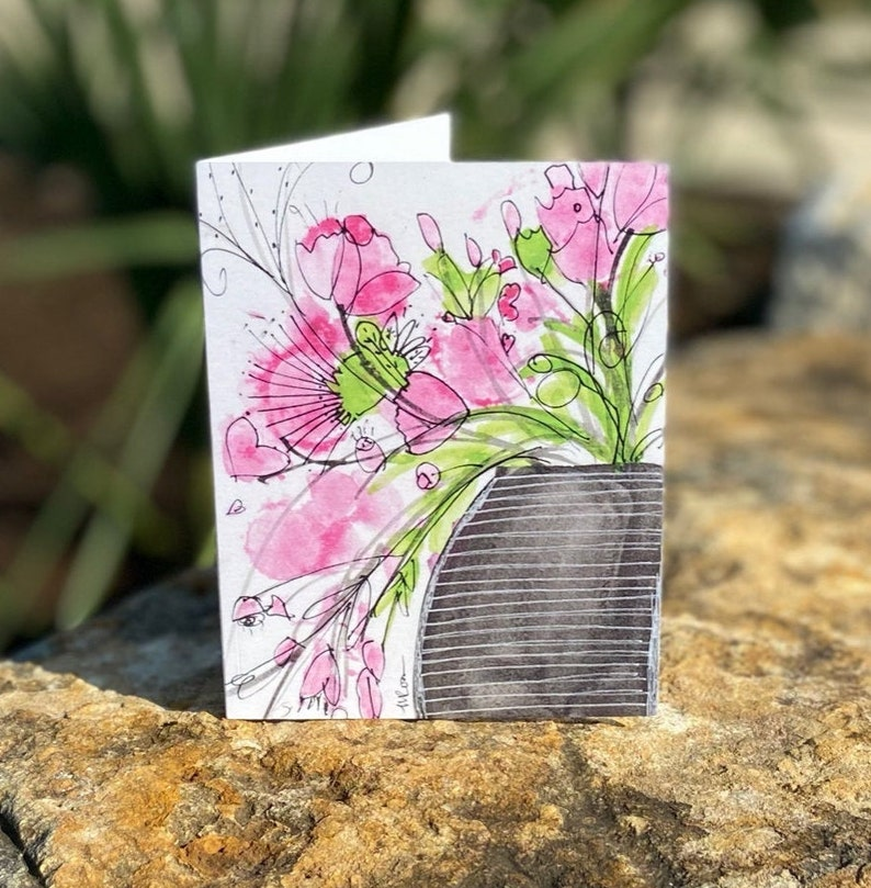 Single Fanciful Note Card A5 image 1