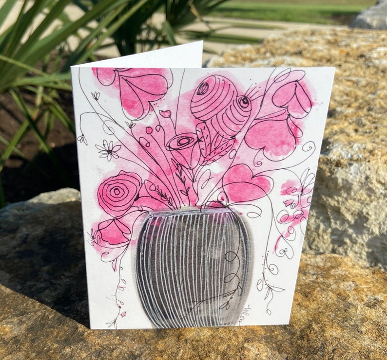 Single Fanciful Note Card A3 image 1