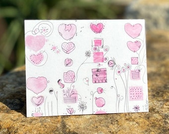 Single Fanciful Note Card A1
