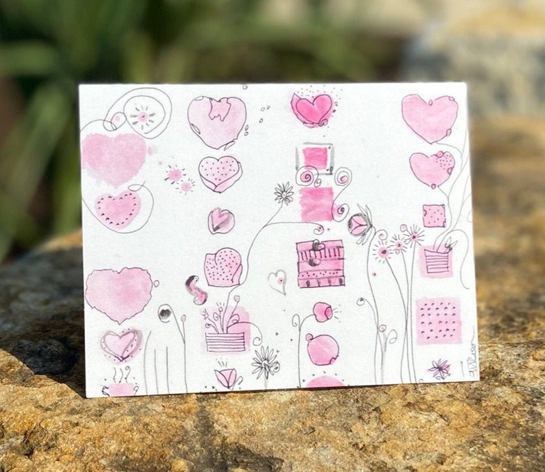 Single Fanciful Note Card A1 Note Card Jun21-A1