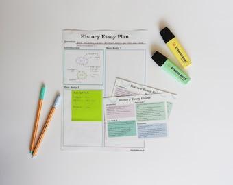 History Essay Guide A Level, GCSE, homeschool Revision Guide