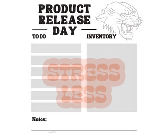 Product Release Day Small Business Printable DIGITAL FILE To Do List and Planner