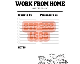 Work From Home To-Do List WITH Procrastinating Colouring in - Printable Version!