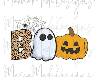 BOO! Ghost Ready To Press Sublimation