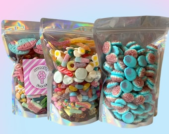 Create Your Own Pick and Mix Sweets Pouch - 1kg Pick & Mix- Gift For Friends - Sweets Gift Box- Sweetie Pouch - Sweet bags - Gummy Candy